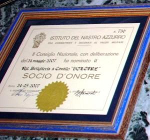 18 giugno 2007 - Il Reggimento Artiglieria a Cavallo «Socio d'Onore» dell'Istituto del Nastro Azzurro