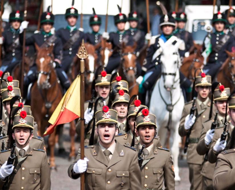 Le Voloire al raduno dell'Arma di Cavalleria