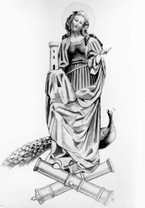 Heilige Barbara, Schutzpatronin der Artillerie