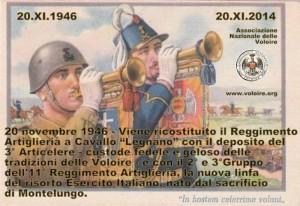 1946 11 20 ricostituzione reggimento artiglieria a cavallo ANV