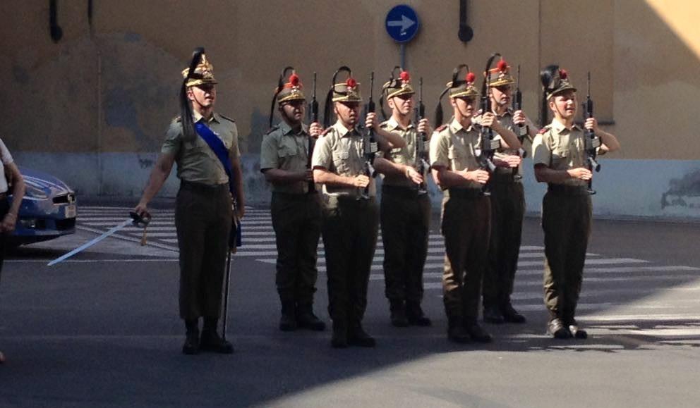 2 giugno 2017, il Picchetto del Reggimento Artiglieria a Cavallo a Vercelli